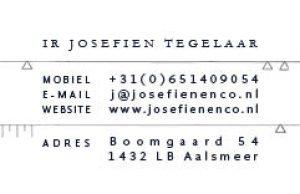 MIN-studio huisstijl ontwerp: Josefien & Co visitekaartje