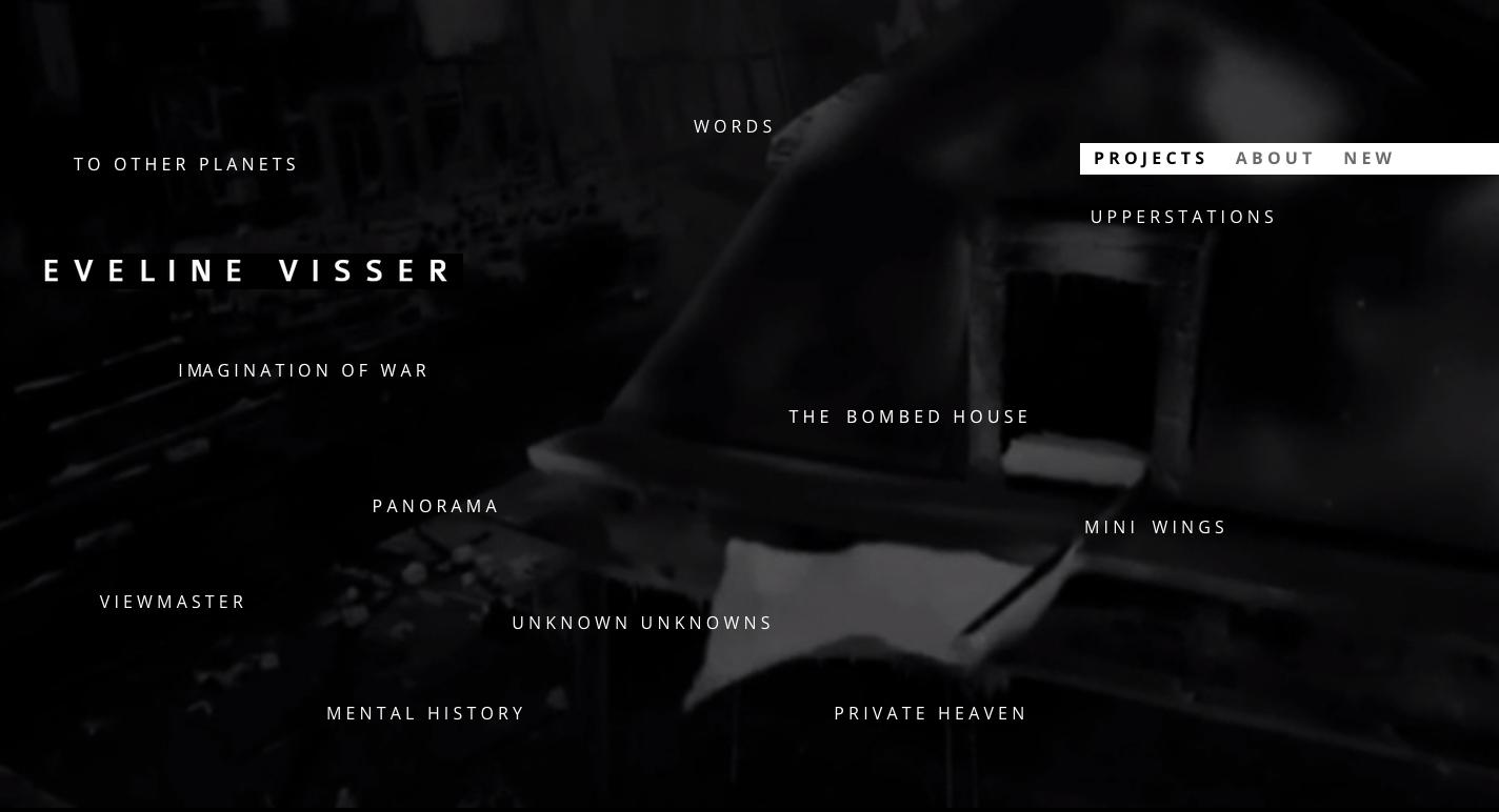 MIN-studio website portfolio: Eveline Visser website design