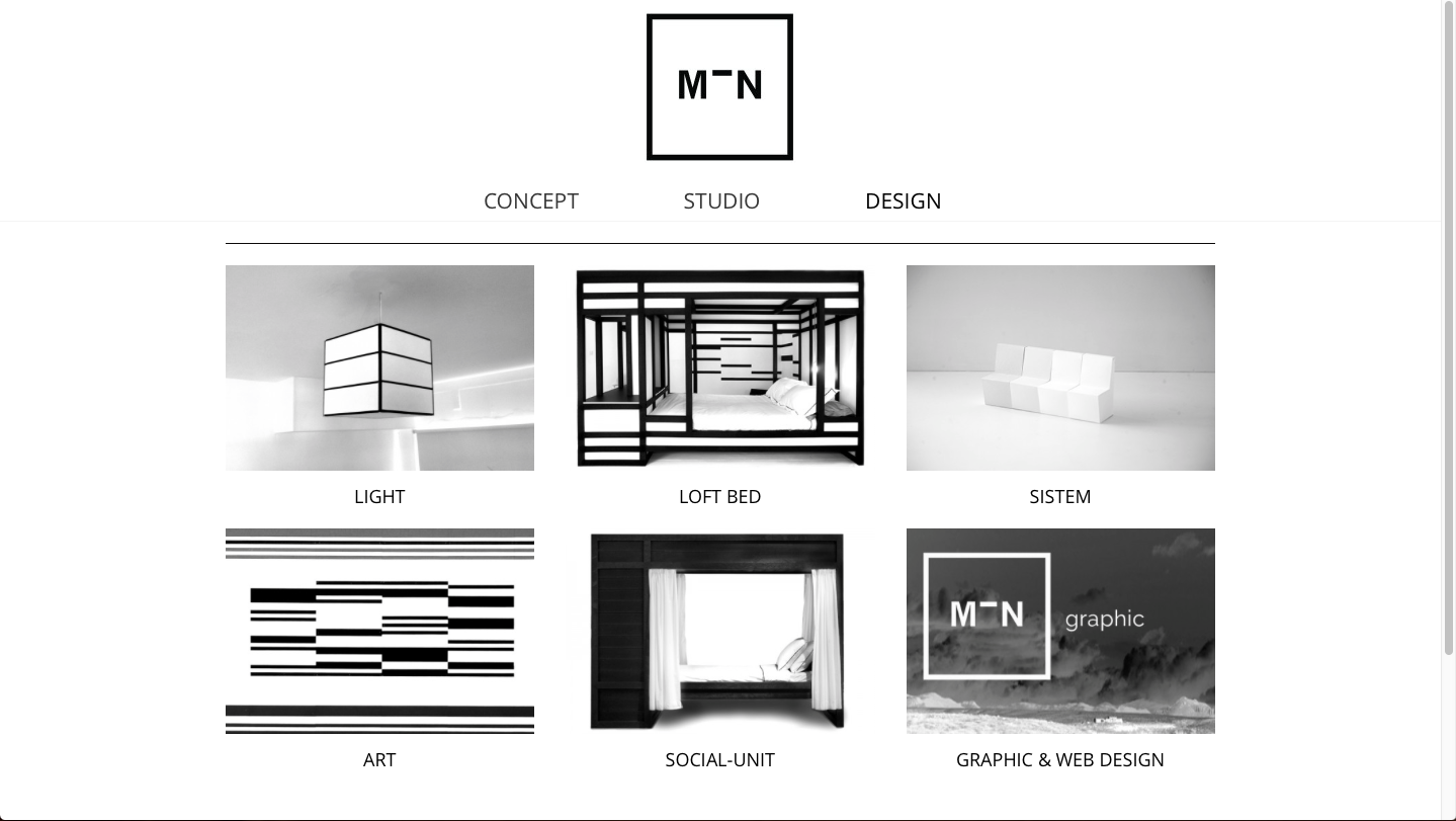 MIN-studio website design