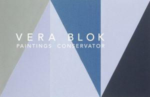 Business card Vera Blok (front)