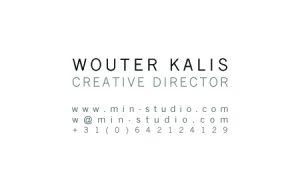 MIN-studio visitekaartje (achter)