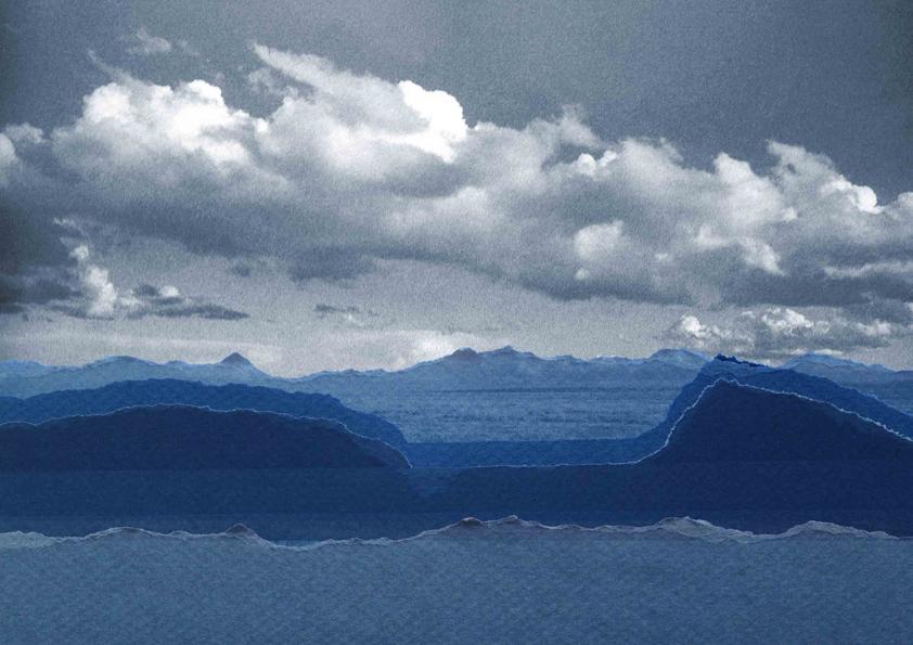 Visual design: papier landschap collage