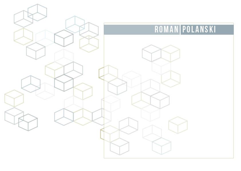 Visual design: Polanski cubes