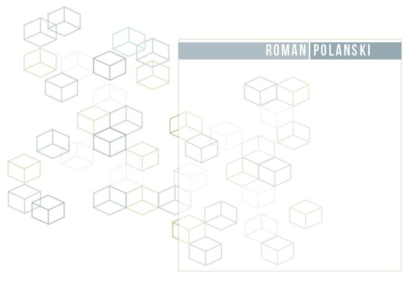 Visual design: Polanski cubes