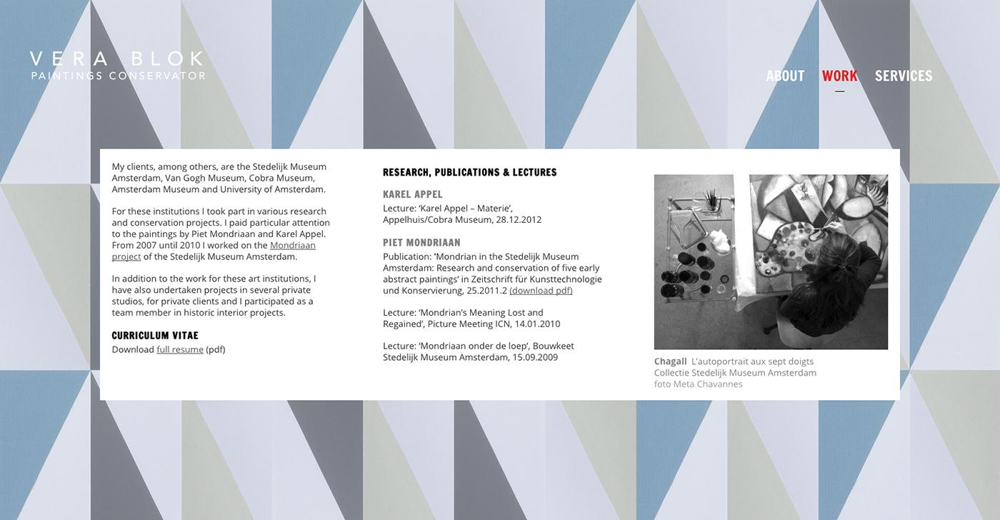 MIN-studio website portfolio:  Vera Blok