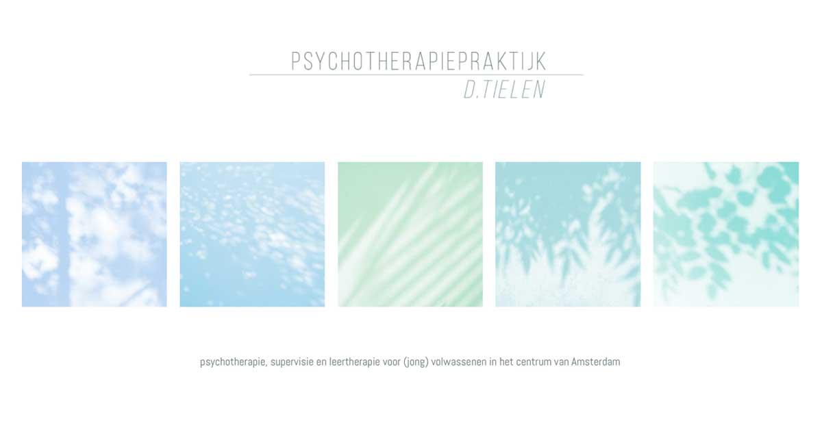 MIN-studio website portfolio: psychotherapiepraktijk Tielen